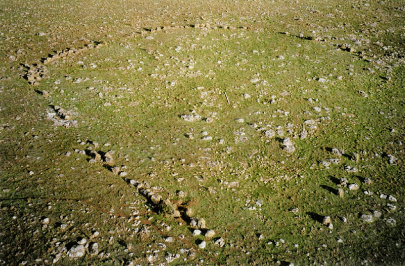Arial view of the stone circle at Wurdi Youang