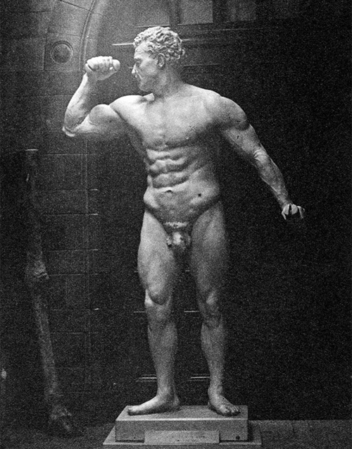 The EugenSandow statue on display in 1901