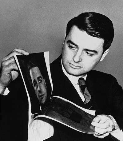 Edwin Land demonstrating instant film