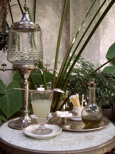 Absinthe table setting