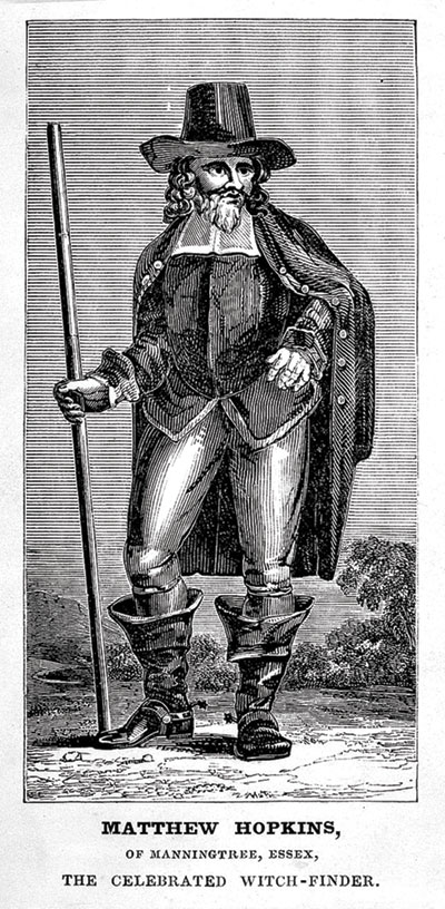 A antique image of Matthew Hopkins